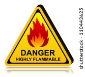 3d yellow triangle danger lpg... | Shutterstock . vector #110443625