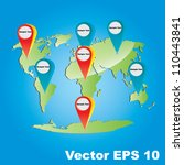 vector earth map concept with... | Shutterstock .eps vector #110443841