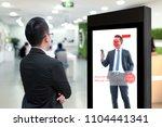 intelligent digital signage  ... | Shutterstock . vector #1104441341