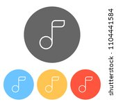 simple music note. linear icon  ...