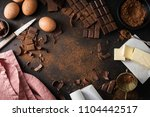 from above ingredients for... | Shutterstock . vector #1104442517