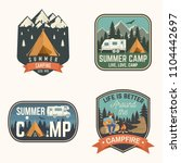 summer camp. vector... | Shutterstock .eps vector #1104442697