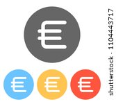 euro symbol  simple icon. set...