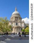 london  uk   26 april  2018 ... | Shutterstock . vector #1104444539