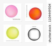 abstract gradient in the sphere ... | Shutterstock .eps vector #1104449504