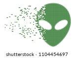 dissolved alien face dotted... | Shutterstock .eps vector #1104454697