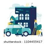 vector modern flat illustration ... | Shutterstock .eps vector #1104455417