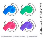referee whistle colors set....   Shutterstock .eps vector #1104455759
