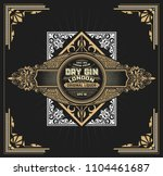 vintage label with floral... | Shutterstock .eps vector #1104461687
