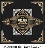 vintage label with floral... | Shutterstock .eps vector #1104461687