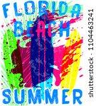 summer typography tee graphic | Shutterstock .eps vector #1104463241