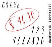 pen lettering numbers and... | Shutterstock .eps vector #1104466934