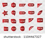 new sticker set tag icon  red... | Shutterstock .eps vector #1104467327