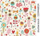 floral seamless pattern | Shutterstock .eps vector #110446814