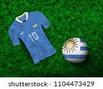 top view of soccer ball in... | Shutterstock .eps vector #1104473429
