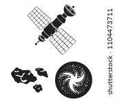 space technology black icons in ... | Shutterstock .eps vector #1104473711