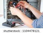 pc desktop assembling in... | Shutterstock . vector #1104478121