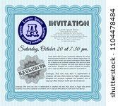 light blue formal invitation... | Shutterstock .eps vector #1104478484