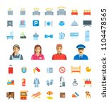 hotel services vector flat... | Shutterstock .eps vector #1104478565