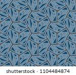 ikat tribal art print. seamless ...   Shutterstock .eps vector #1104484874