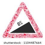 traffic warning sign 35. all...   Shutterstock .eps vector #1104487664