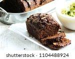 homemade chocolate zucchini... | Shutterstock . vector #1104488924
