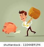 poor bankrupt businessman... | Shutterstock .eps vector #1104489194