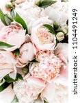 bouquet of a lot of peonies of... | Shutterstock . vector #1104491249