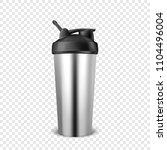 vector realistic 3d empty... | Shutterstock .eps vector #1104496004