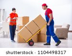 professional movers doing home... | Shutterstock . vector #1104498317