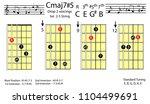 guitar chords.c major7 5 drop2...   Shutterstock .eps vector #1104499691