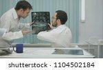 tutor doctor help intern with x ... | Shutterstock . vector #1104502184