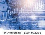 modern way of exchange. bitcoin ... | Shutterstock . vector #1104503291