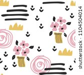 seamless pattern with cute...   Shutterstock .eps vector #1104504014
