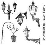 street lamps | Shutterstock . vector #110451047