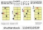 guitar chords.c minor major7...   Shutterstock .eps vector #1104510539