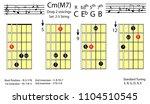 guitar chords.c minor major7...   Shutterstock .eps vector #1104510545