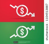 dollar increase decrease icon.... | Shutterstock .eps vector #1104513887