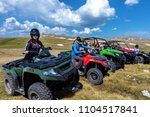 friends driving off road with... | Shutterstock . vector #1104517841