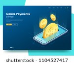 mobile payments isometric...