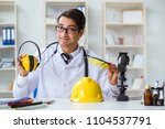 safety doctor advising about... | Shutterstock . vector #1104537791