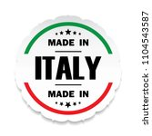 made in italy flag button label ... | Shutterstock .eps vector #1104543587