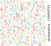 colorful numbers | Shutterstock .eps vector #110455751