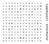 e shopping flat icon set .... | Shutterstock .eps vector #1104560891