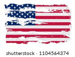 usa flag in grunge style.vector ... | Shutterstock .eps vector #1104564374