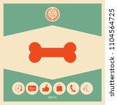 bone symbol icon   Shutterstock .eps vector #1104564725