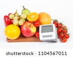 blood pressure monitor and... | Shutterstock . vector #1104567011