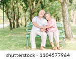 happy asian senior couple... | Shutterstock . vector #1104577964