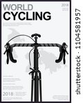 cycling poster design template... | Shutterstock .eps vector #1104581957