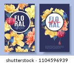vector tropical banners with... | Shutterstock .eps vector #1104596939